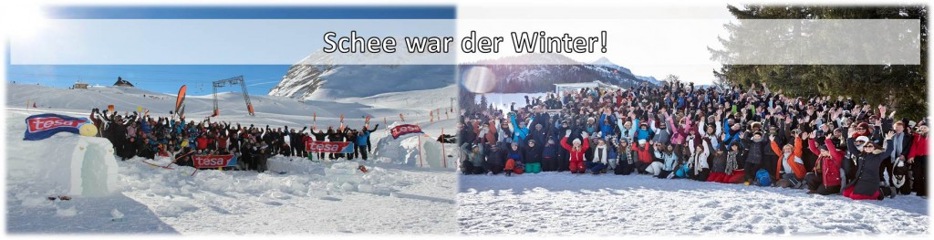 Schee war der Winter